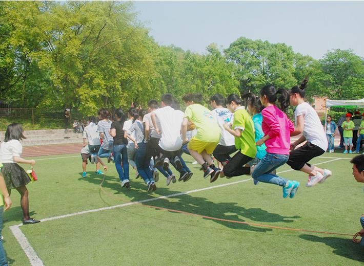 重庆青年太阳城学院跳绳练习
