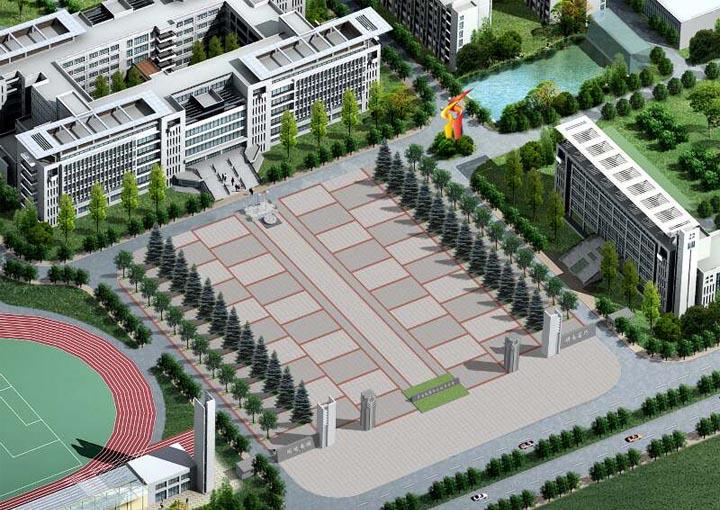 云南能源学院俯拍图