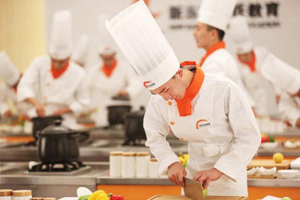 烹饪专业同学实训