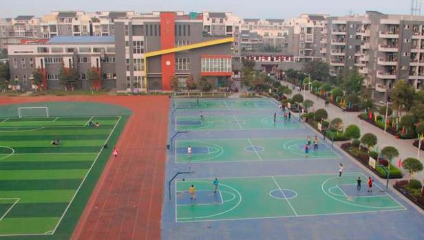 学校运动篮球场