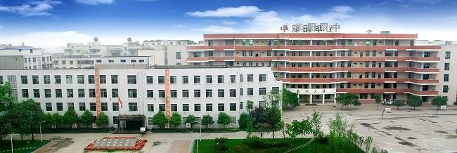 成都市华阳职业中学鸟瞰图